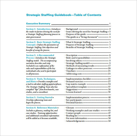 strategic staffing plan pdf template free download