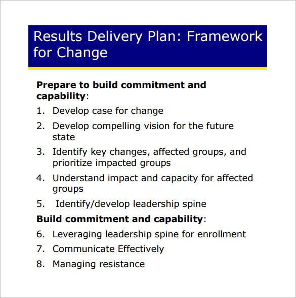 Change Management Plan Template 6 Free Word PDF Documents – Change Management Plan Template