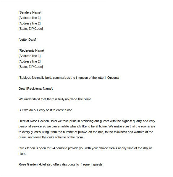 10 sales letter templates free sample example format download free travel and hotels sales letter template sample download fandeluxe Gallery