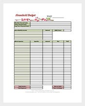 detailed-household-budget-template