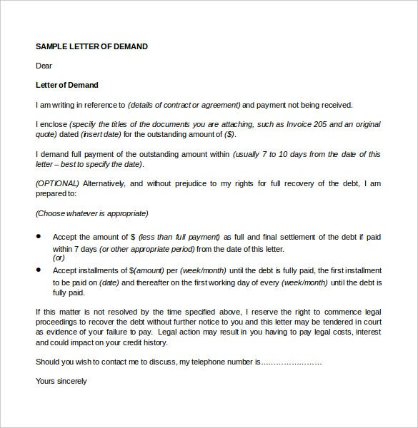 7 legal letter templates free sample example format download