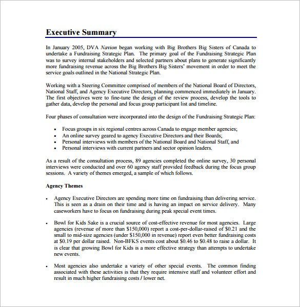 fundraising strategic plan free pdf template download