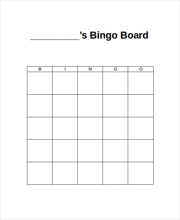 Word Bingo Template - 5+ Free Word Documents Download | Free