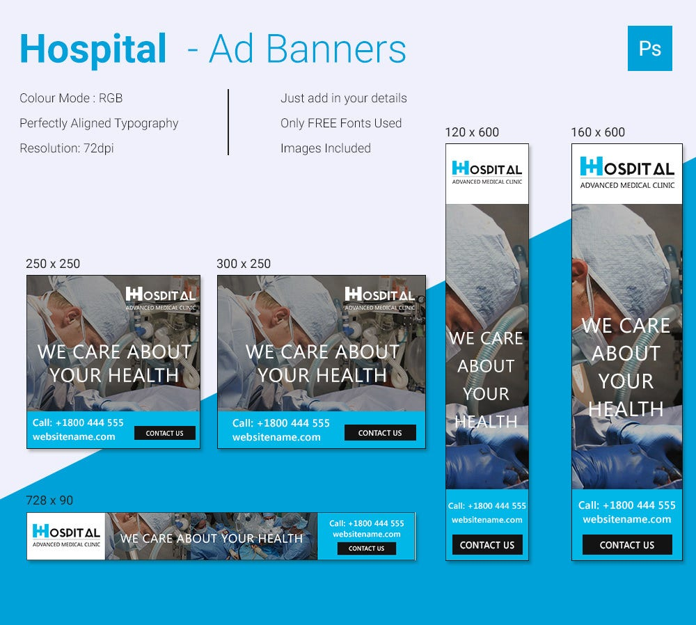 Amazing Hospital Health Ad Banner Download