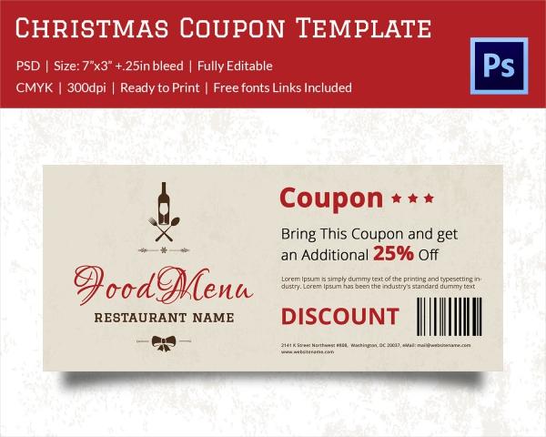 Christmas Coupon Template 30 Free PSD AI Vector EPS Format – Discount Coupons Templates