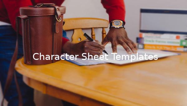 character sheet template