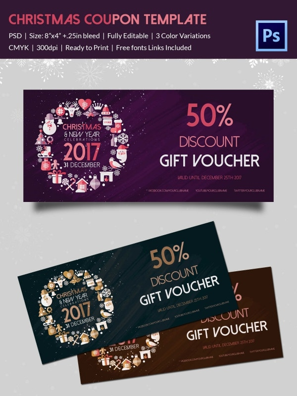 Collection Of Christmas Discount Coupons Download