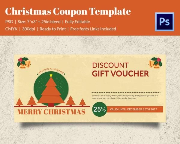 Print Ready Christmas Gift Coupon Download