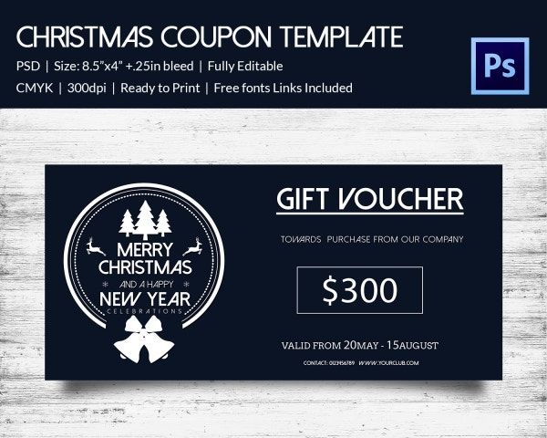 Luxury Christmas Gift Coupon Template Download
