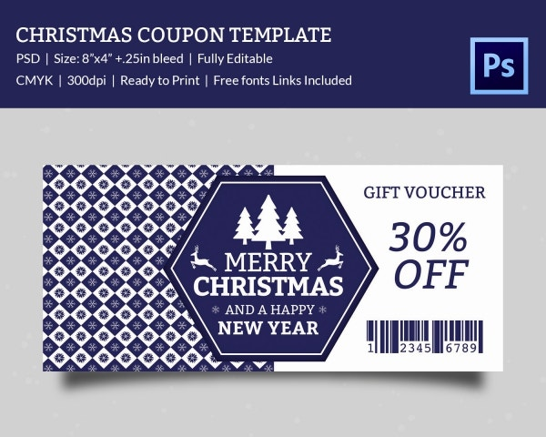 Super Discount Christmas Coupon Template