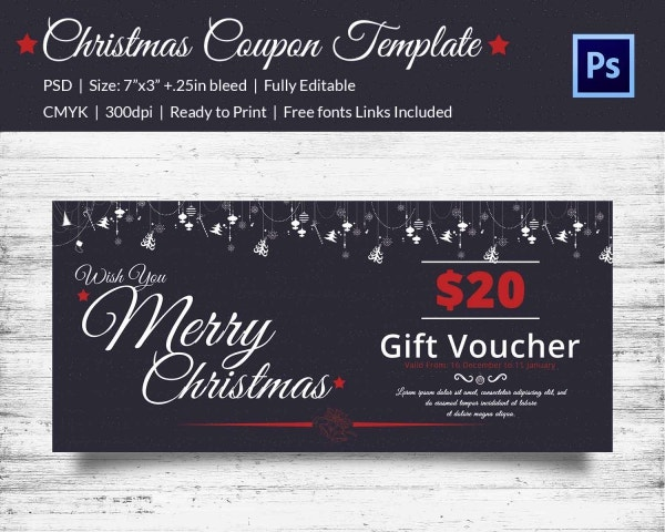 Premium Christmas Coupon Template