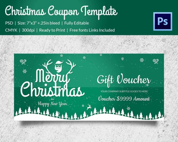 Christmas Complement Coupon Template Download