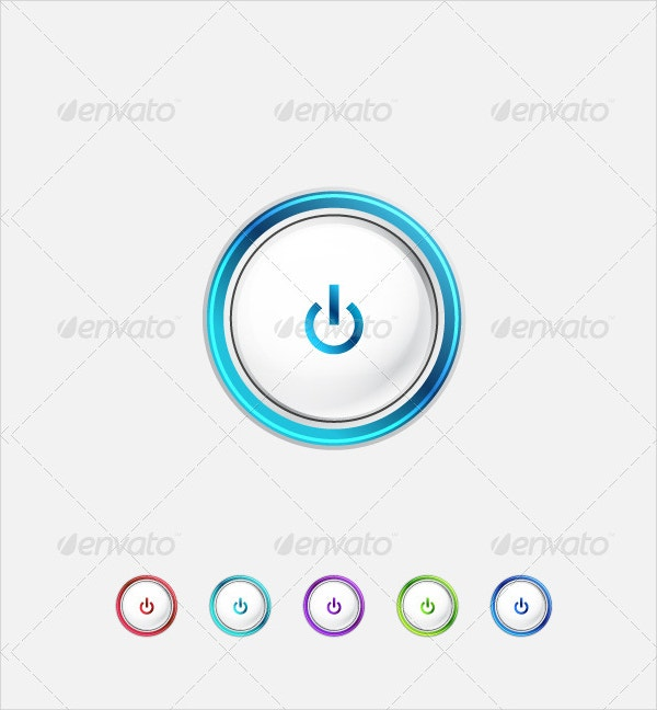 Power Buttons in Minimalistic style