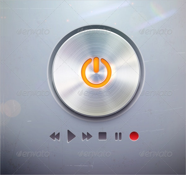 Media player Power Button
