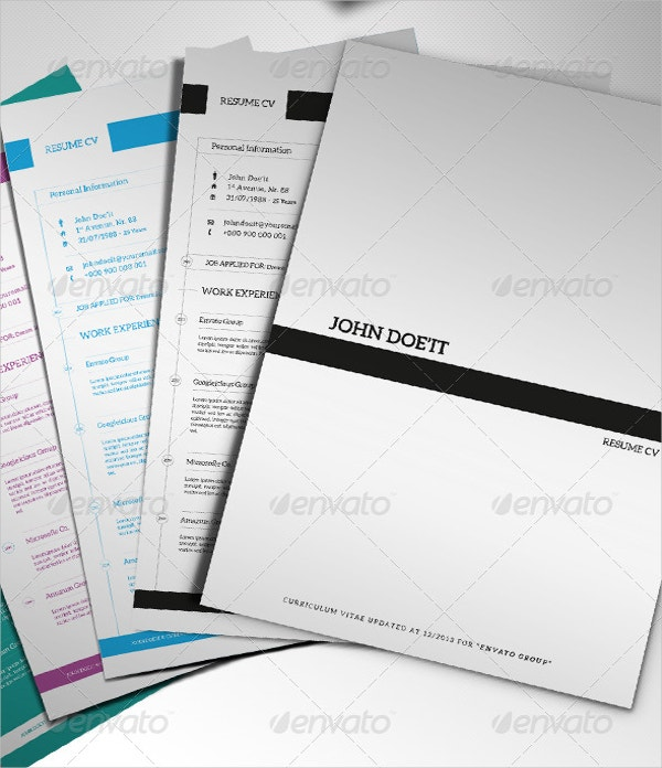 12 cover page templates free sample example format download