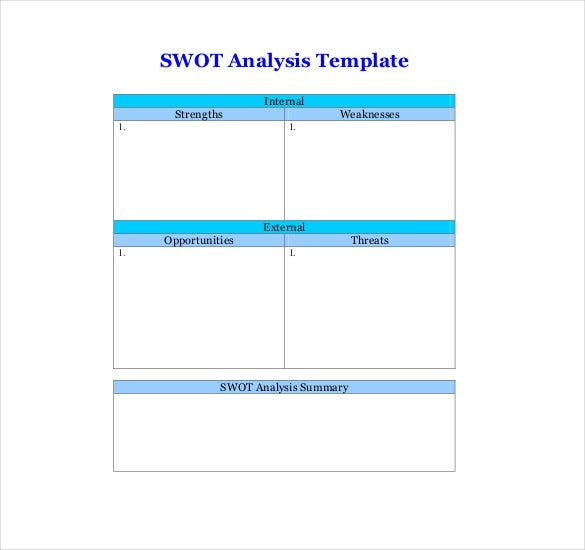 free swot analysis template word - Boat.jeremyeaton.co