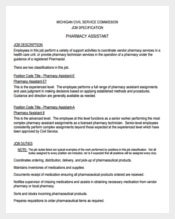 Assistant Pharmacist Job Description Free PDF Format