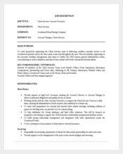 Client Services Account Executive Job Description PDF