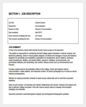 Communications Creative Director Job Description PDF