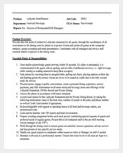 Lafayette Hostess Job Description Example Template Free