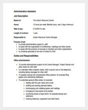Office Administrative Assistant Sample Job Description