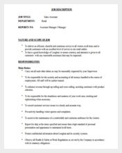 Sales Assistant Manager Job Description Free PDF Format