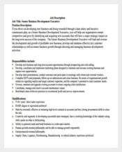 415 Job Description Templates Free Sample Example Format