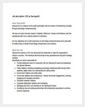 Startup CEO Job Description Free PDF Format