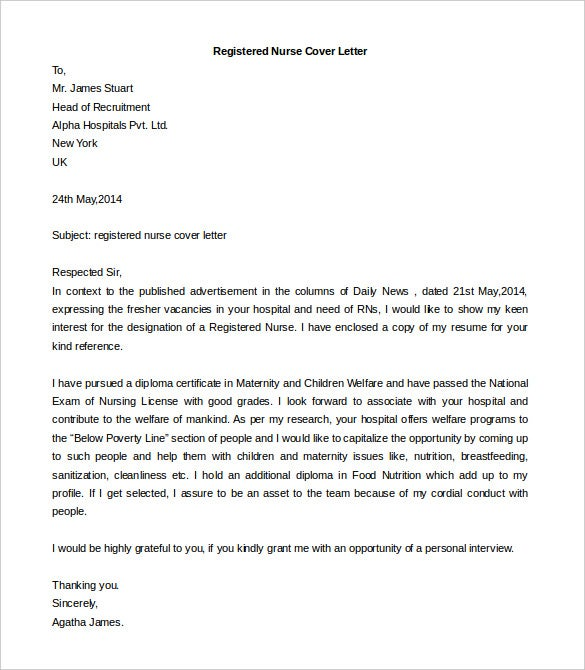 Free Cover Letter Template 52 Free Word PDF Documents – Cover Letter Format