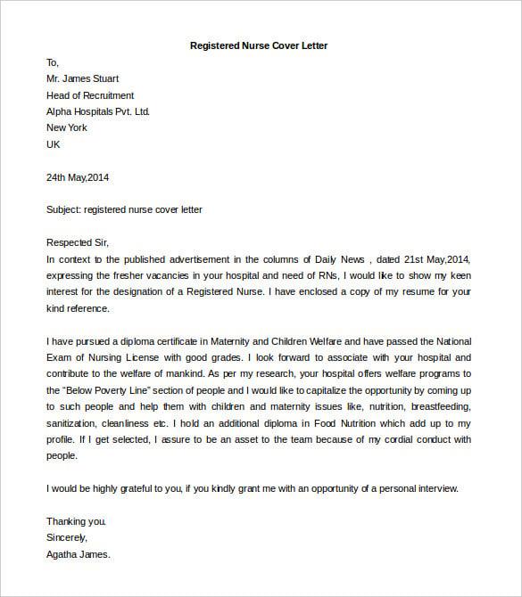 fresher job application letter format doc