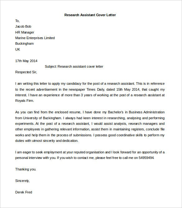 Free Cover Letter Template 50 Free Word PDF Documents