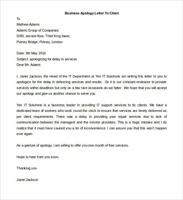 Business Letter Template 43 Free Word PDF Documents Free