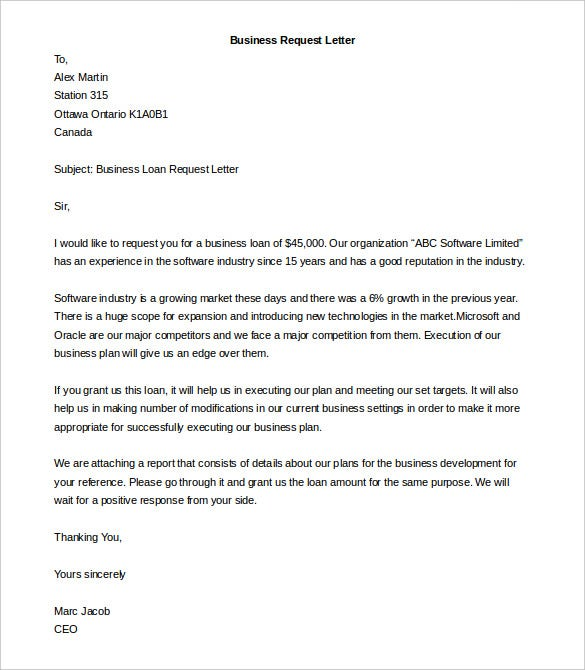 Business letter template 44 free word pdf documents free editable business request letter template free download spiritdancerdesigns