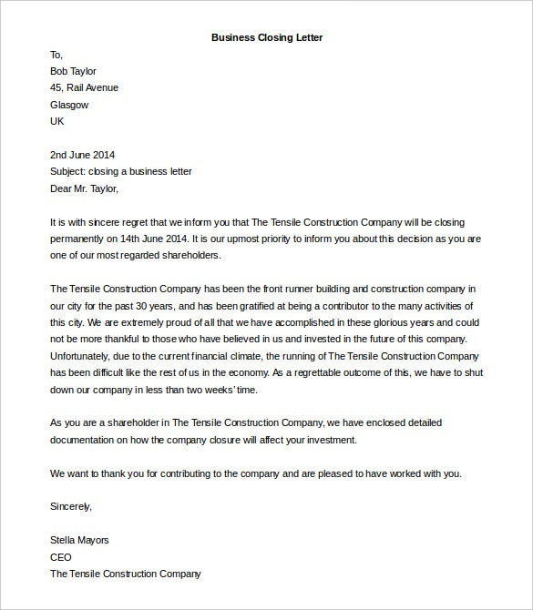 Company Business Letter. Free Download 10+ Business Complaint