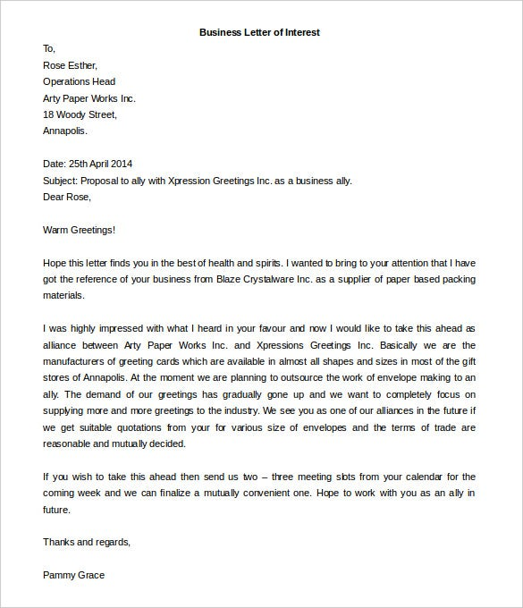 Business Letter Template - 43+ Free Word, Pdf Documents | Free