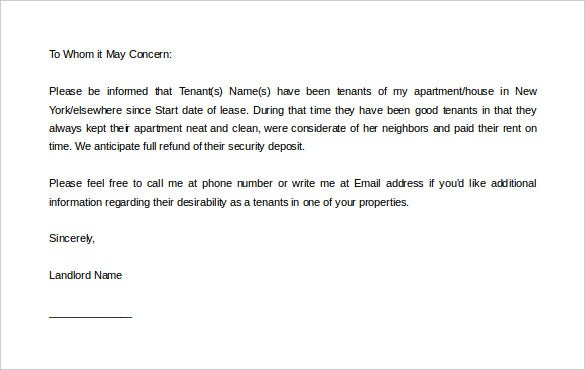 editable download landlord reference letter template