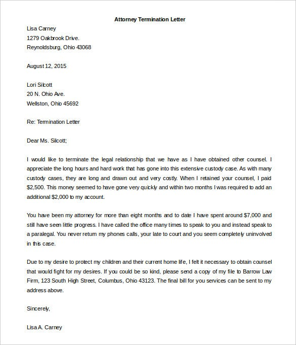 free termination letter template 15 free word documents