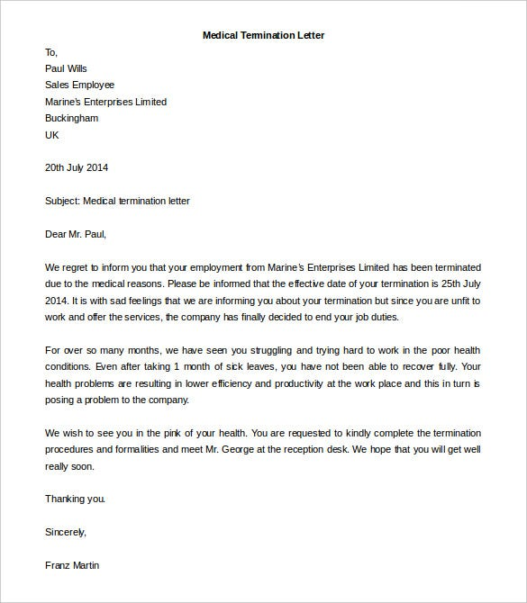 free termination letter template 14 free word documents download