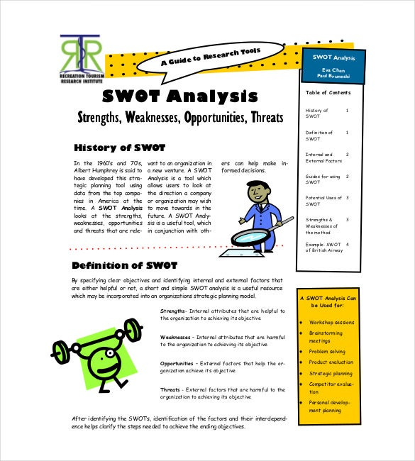 swot analysis in marketing strategy