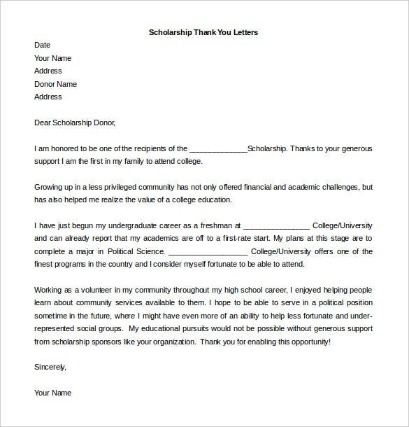 Free Thank You Letter Templates   Free Word Pdf Documents