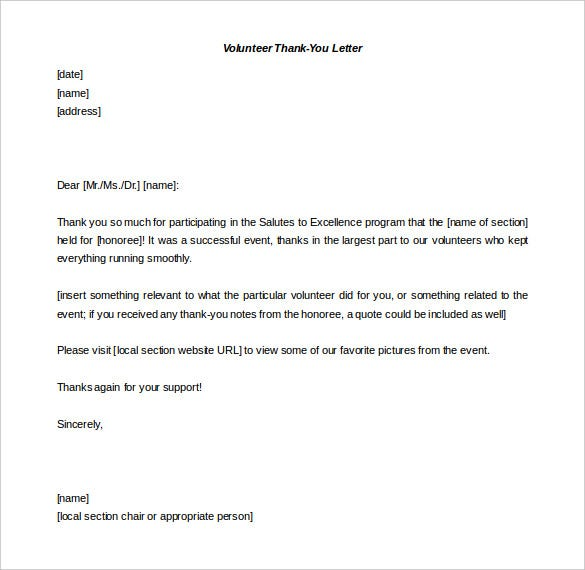 Formal Thank You Letter Template  Letter Template