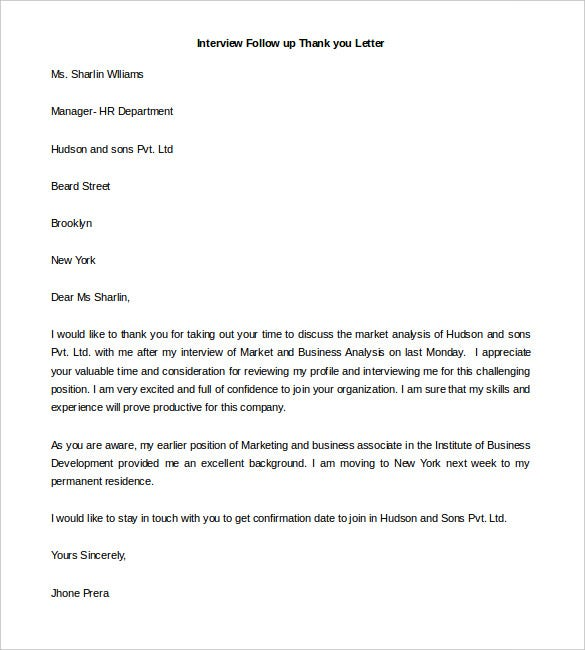 Interview Follow Up Letter All About Design Letter – Interview Follow Up Letter