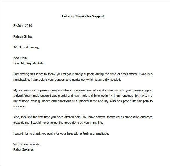 Free Thank You Letter Templates – 35+ Free Word, PDF Documents ...