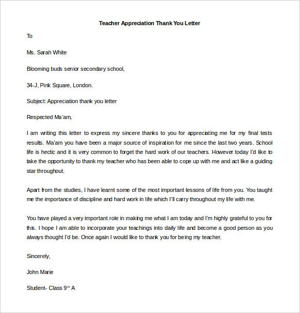 41 Free Thank You Letter Templates Doc Pdf Free Premium