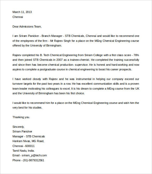 Elegant Recommendation Letter For An Engineering Student Word Doc Idea Letter Of Recommendation Word