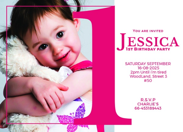1st birthday party invitation template