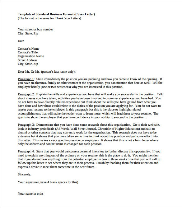 standard business letter template koni polycode co