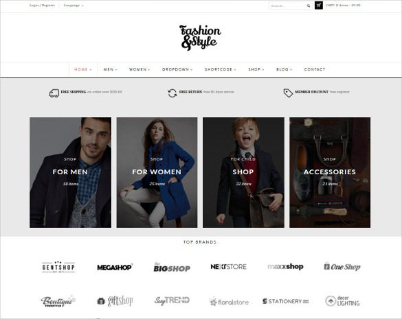 fashion woocommerce marketplace responsive wordpress template