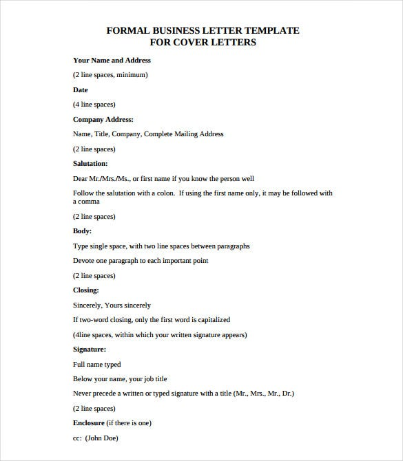 formal business letter examples 25 business letter templates pdf doc psd indesign 8766