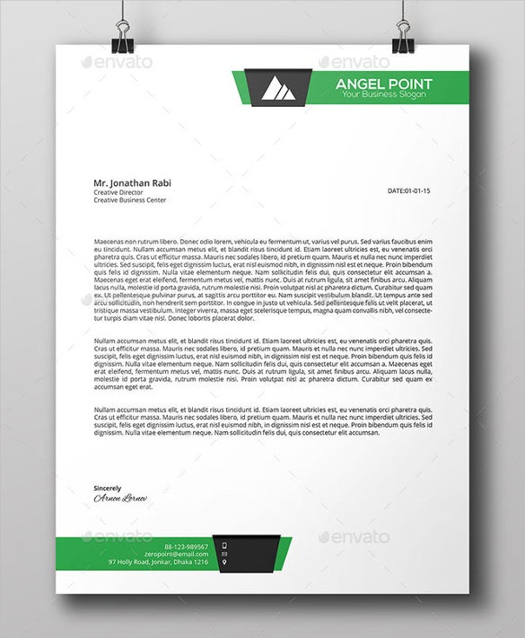 Line Business Letterhead Template PSD Download  Business Letterhead Template Free